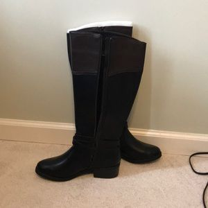 336bc5fd373c toetos Shoes - Black brown wide calf boots